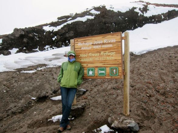 15,953 ft. Altitude at the Refugio on El Volcon, Cotopaxi - Ecuador